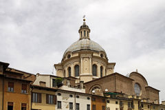 Dome of Basilica di Sant Andrea in Mantua, Italy. Dome of Basilica di Sant Andrea in Mantua, Lombardy region Italy, Europe Royalty Free Stock Photo