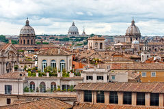 Dome of basilica in Rome Stock Photos