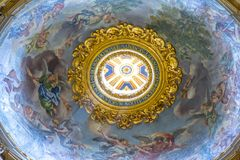 Dome in Basilica of St. Peter in Vatican. Italy Royalty Free Stock Images