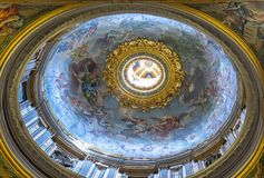 Dome in Basilica of St. Peter in Vatican. Italy Royalty Free Stock Photos