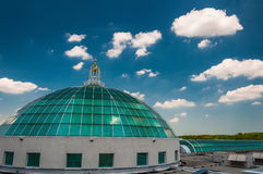 Dome and beautiful summer sky at Towson Town Center, Maryland. Stock Image