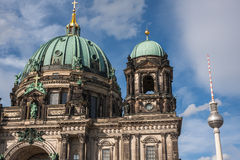 Dome of the Berlin Cathedral (Berliner Dom) Royalty Free Stock Photo