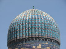 Dome of Bibi-Khanym mosque in Samarkand Royalty Free Stock Image
