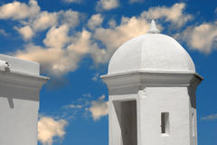 Dome on blue cloudy sky Royalty Free Stock Images