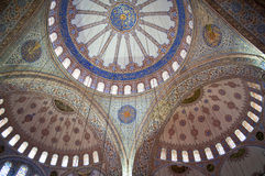 Dome of the Blue mosque inside. Dome of the Blue mosque in Istanbul Stock Photography