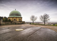 Dome building and Calton Hill, Edinburgh Royalty Free Stock Image