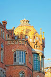 Dome of building of Hospital de Sant Pau in Barcelona. In Spain. In English it is called as Hospital of the Holy Cross and Saint Paul. It used to be a hospital Stock Photos