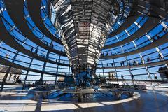 The dome of Bundestag Stock Images