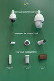 Dome cameras and outdoor detectors Royalty Free Stock Photo