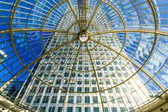 Dome, Canary Wharf Shopping Centre. Glass dome in Canary Wharf shopping centre royalty free stock images