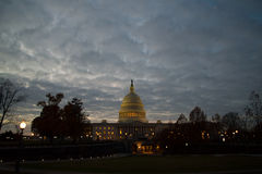 US Capital building at sunset Royalty Free Stock Photography