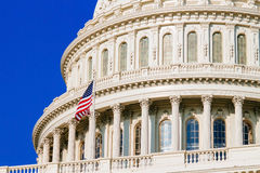 Dome of the Capitol Building. Royalty Free Stock Photo