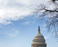 Dome of Capitol Washington DC with sky Royalty Free Stock Photos