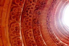 Dome carved in circumference. Royalty Free Stock Image