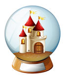 A dome with a castle Royalty Free Stock Image
