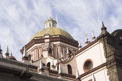 Dome of cathedral. Dome of the catedral of Puebla Royalty Free Stock Images