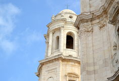 Dome of the Cathedral of Cadiz in Spain Stock Photography