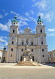 The Dome Cathedral in City Center of Salzburg Stock Photo