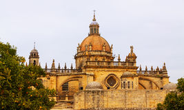 Dome of  Cathedral in  day. Jerez de la Frontera Stock Photo