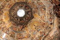 Dome of the cathedral in Florence Stock Images