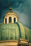 Dome of Cathedral. Dome of a italian baroque cathedral Royalty Free Stock Images
