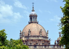 Dome of the Cathedral of Jerez de La Frontera Royalty Free Stock Images
