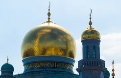 Dome of the Cathedral Mosque. In Moscow Stock Photo