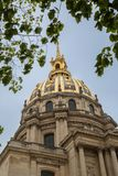 The dome of the cathedral of Saint Louis at Hotel des Invalides stock image
