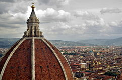 Dome. Cathedral of Saint Mary of the Flower, Florence Italy Royalty Free Stock Photography