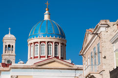 Dome of the Cathedral of Saint Nicholas, Ermoupolis (Greece) Royalty Free Stock Image