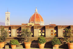 Dome of cathedral Santa Maria del Fiore (Duomo) , Florence Stock Photo