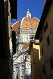 The dome of the Cathedral of Santa Maria del Fiore in Florence Royalty Free Stock Photography