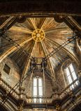 Dome of the Cathedral of Santiago de Compostela, detail stock image
