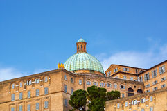 Dome of Cathedral sunset Ancona Italy Royalty Free Stock Photo