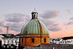 Dome of Cathedral sunset Ancona Italy Stock Images