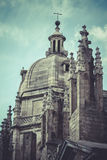 Dome of the Cathedral of Toledo in Spain Stock Images