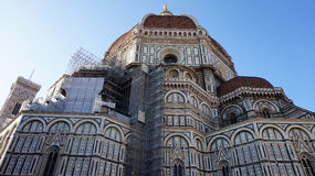Dome of the Cattedrale di Santa Maria del Fiore Cathedral of Saint Mary of the Flower the main church of Florence, Italy Royalty Free Stock Images