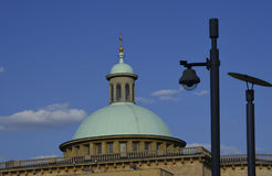 Dome and CCTV. Royalty Free Stock Image