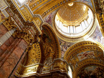 Dome and ceiling Royalty Free Stock Photo