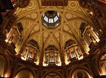 Dome Ceiling. Ornate Dome Ceiling in old banking chambers stock image