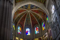 Dome Ceiling Frescos Almudena Cathedral Royalty Free Stock Photos