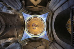 The dome at the center of the Church of the Holy Sepulchre in Jerusalem, Israel. Royalty Free Stock Photography