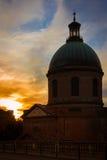 Dome. Chapel of Hospital de La Grave. Toulouse. France Stock Photography
