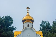 The dome of the chapel of the prophet Hosea on Soviets square stock photography