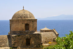 Dome chuch in monemvasia Royalty Free Stock Images