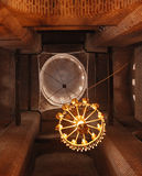 Dome of church. A lamp weighs the domes of church on ceiling Stock Image