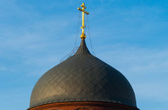 The dome of the church against the blue sky. In Moscow royalty free stock photos