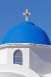 Dome of church in Akrotiri over blue sky Royalty Free Stock Photos