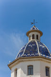 Dome of the church of Altea Royalty Free Stock Photos