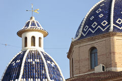 Dome of the Church of Altea. Royalty Free Stock Images